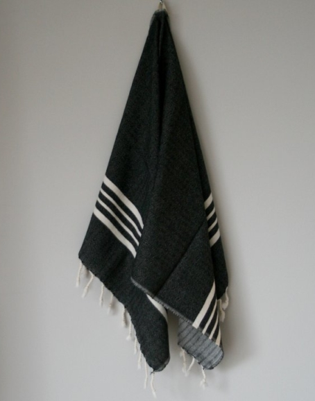 Ateljé Stockholm - Handgjord liten hamamhandduk, svart
