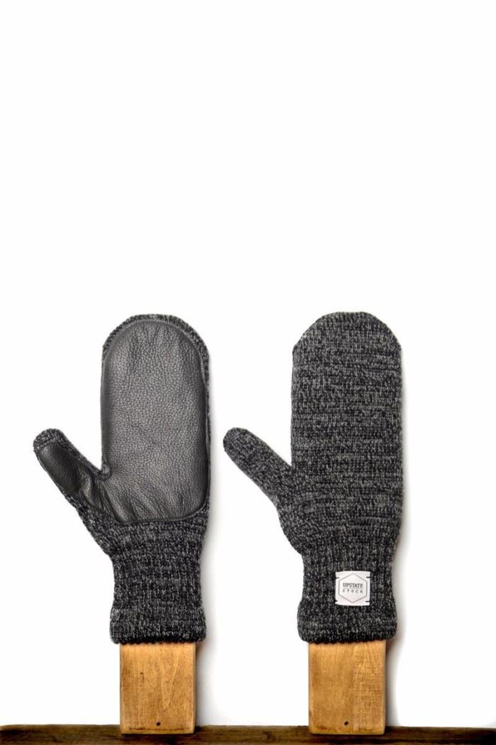 Upstate Stock - Ragg Wool Mitten, Charcoal Melange