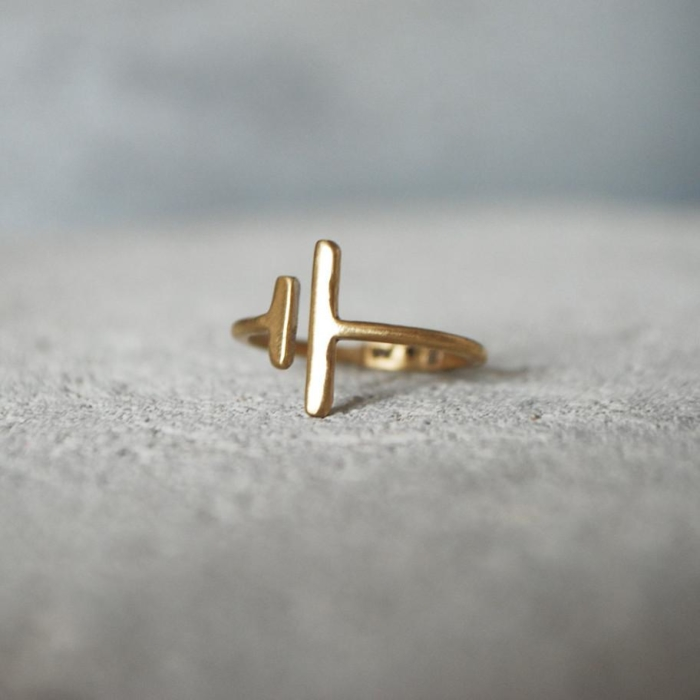 Wild & Arrow - Viiva Ring, Bronz