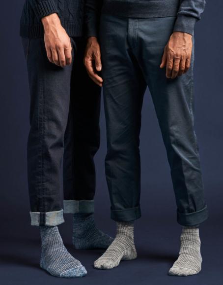 Qnoop - Strumpor, Twisted Rib Grey