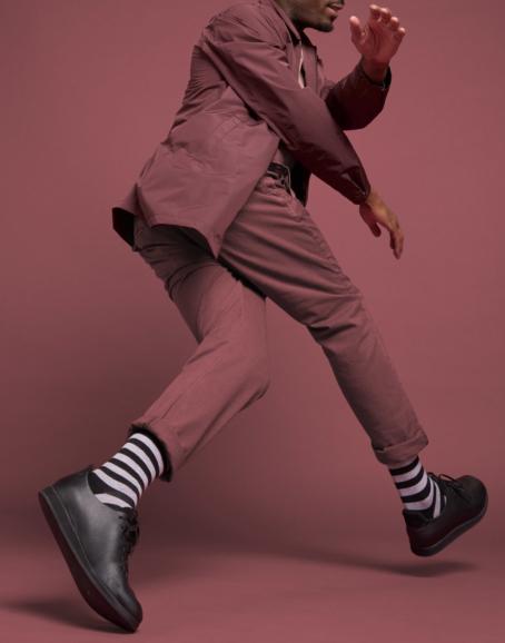 Qnoop - Strumpor, Plain Stripe Black & Grey