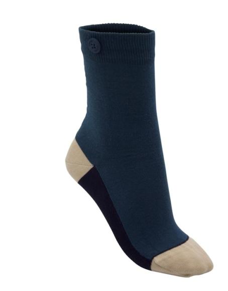 Qnoop - Strumpor, Ankle Stripe Sea Green