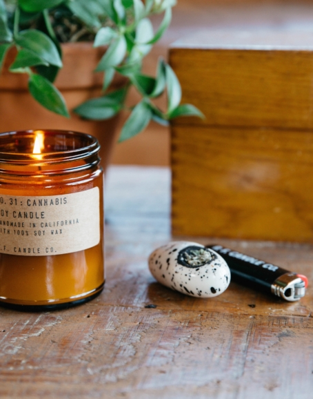P.F. Candle Co. - Cannabis Soy Candle