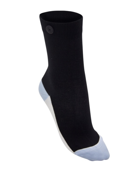 Qnoop - Strumpor, Ankle Stripe Black