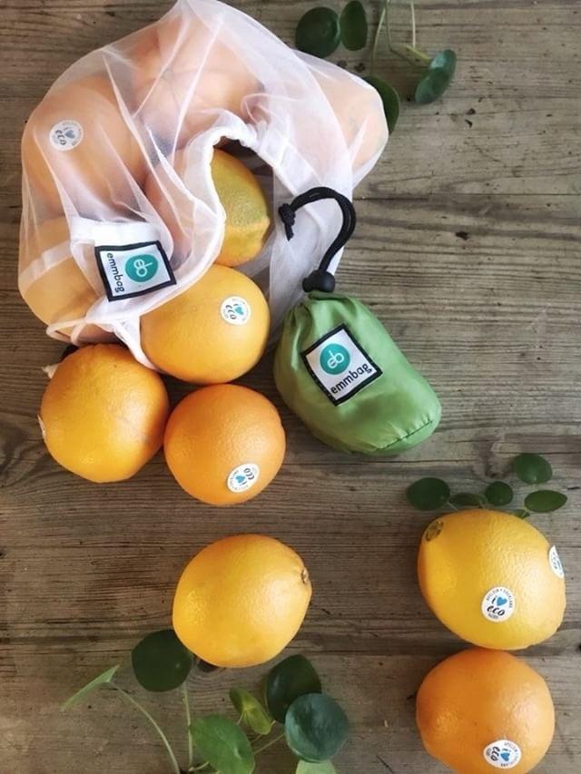 Emmbag - 4 nätpåsar för frukt & grönt