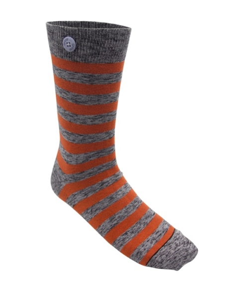 Qnoop - Strumpor, Plain Stripe Orange & Twisted