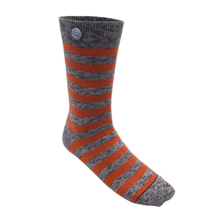 Qnoop - Strumpor, Plain Stripe Orange & Twisted