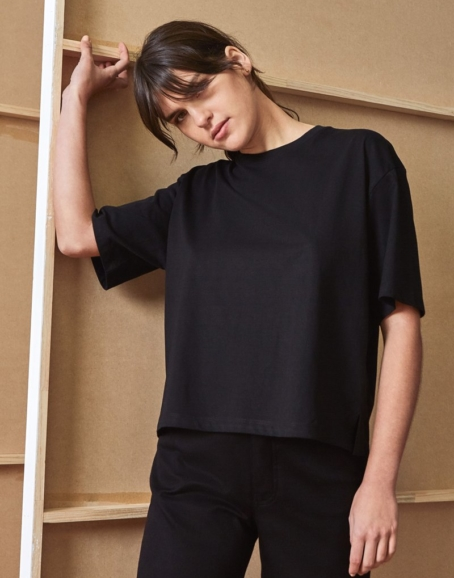Kowtow - Building Block Boxy Tee, Black