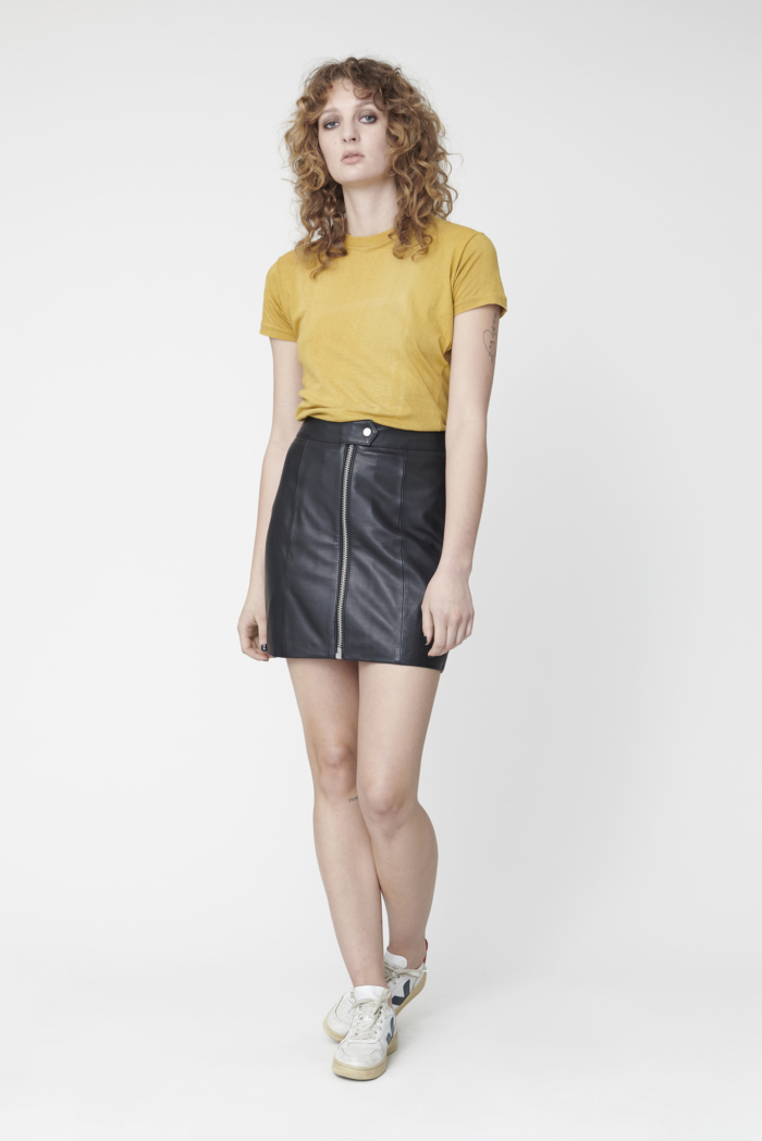 Deadwood - Liss Recycled Leather Skirt