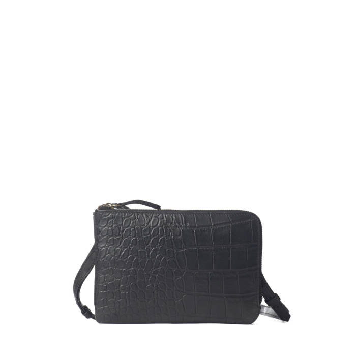 O My Bag - Lola Black Croco Bag