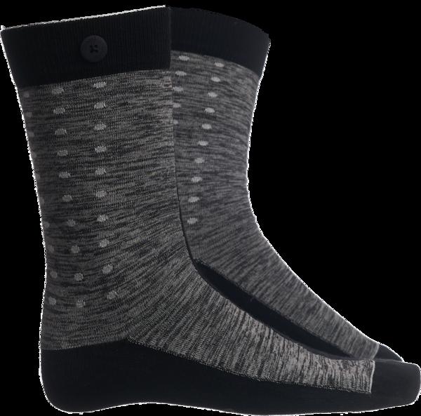 Qnoop - Strumpor, Race Black Grey