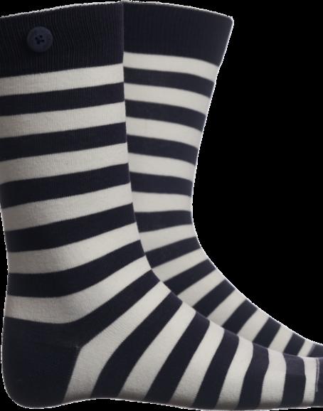 Qnoop - Strumpor, Plain Stripe Navy White