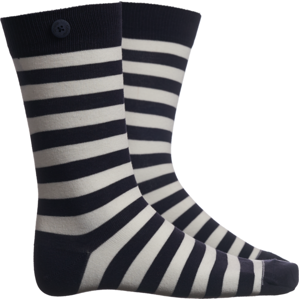 Qnoop - Strumpor, Plain Stripe Navy White