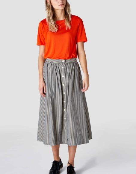 Kings of Indigo - Benten Organic Striped Skirt