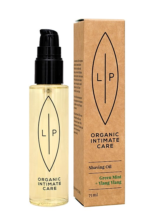 Lip Organic Intimate Care - Shaving Oil, Green Mint + Ylang Ylang
