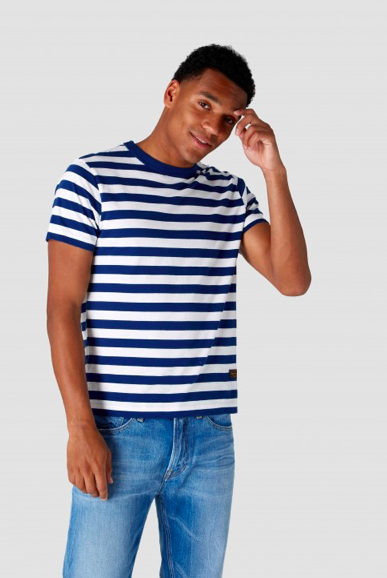 Kings of Indigo - Darius T-Shirt, Navy Stripe