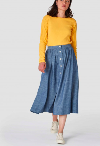 Kings of Indigo - Benten Organic Chambray Skirt