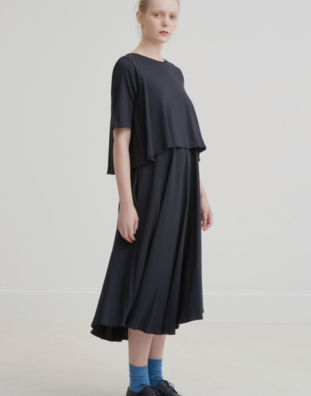 Kowtow - Double Layer Dress, Black