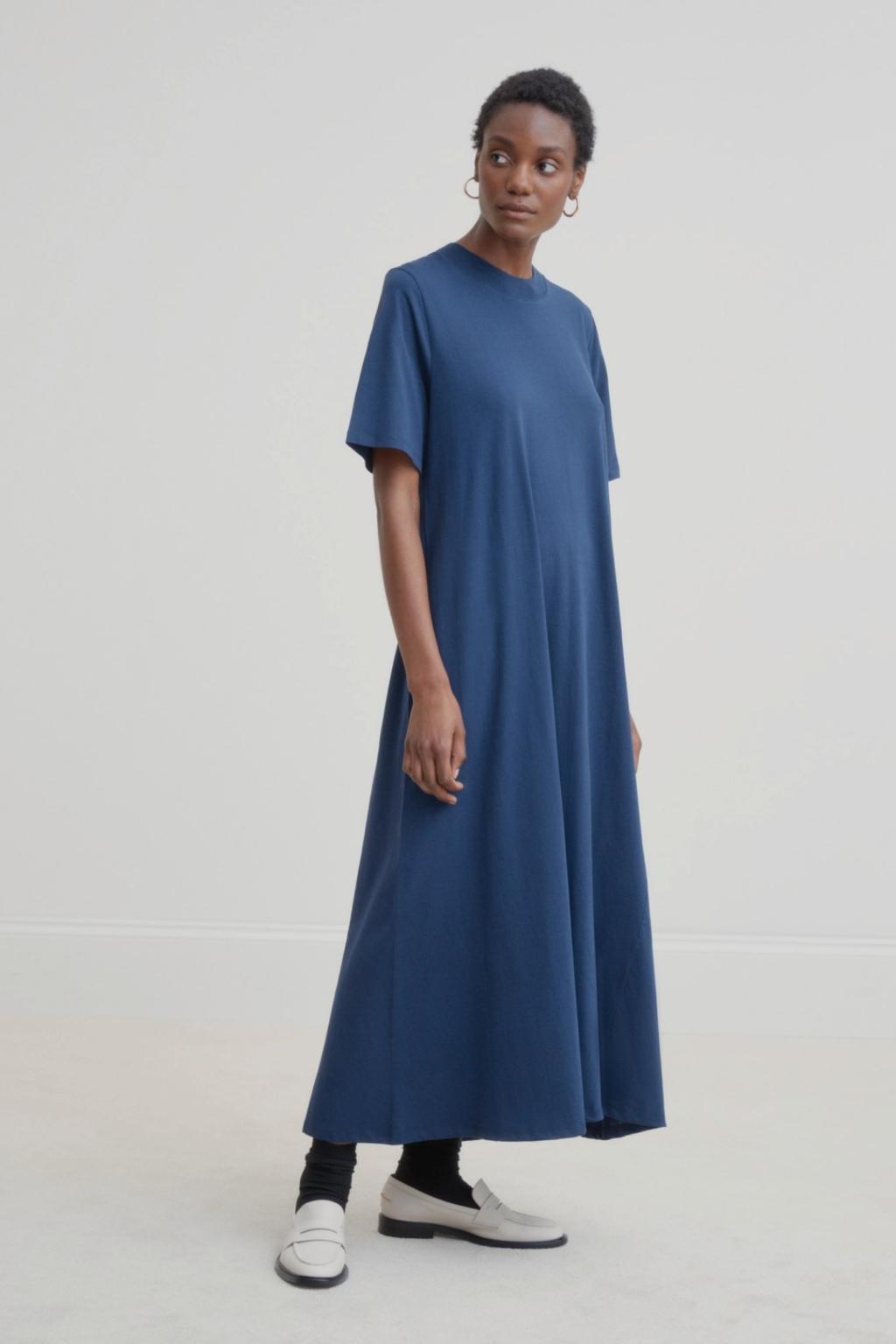 Kowtow - Tee Shirt Swing Dress, Navy
