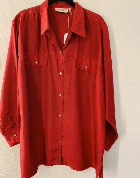 Ecosphere Vintage - Bright Red Silk Shirt