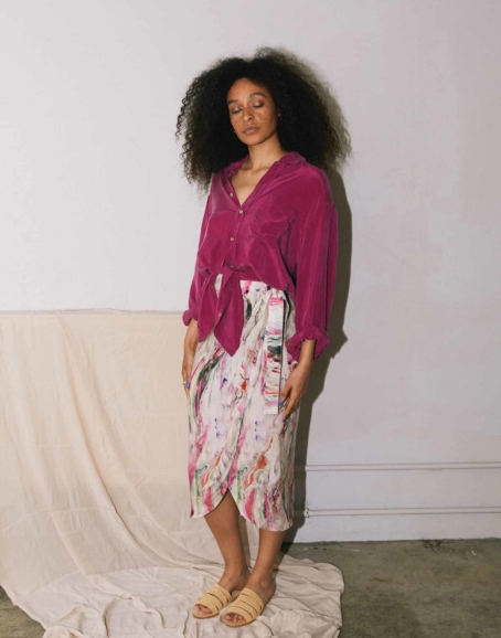 Cossac - Printed Wrap Skirt