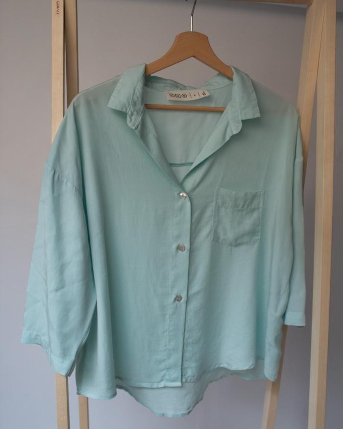 CUS - Tunn Tencel Shirt, Aqua