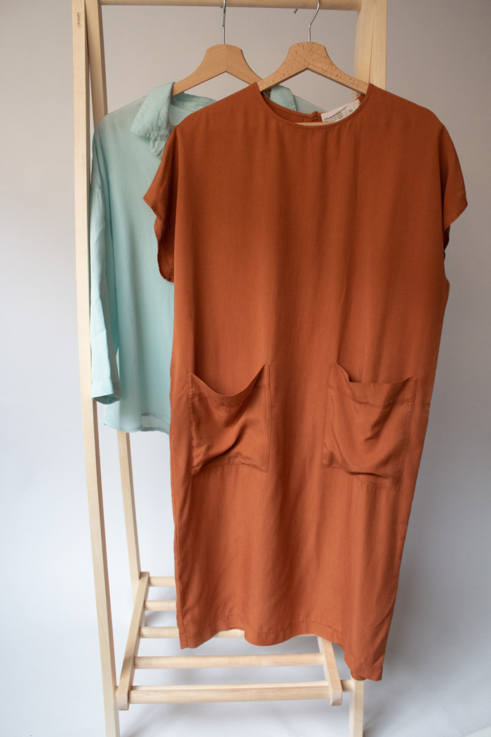 CUS - Doris Tencel Dress, Rooibos