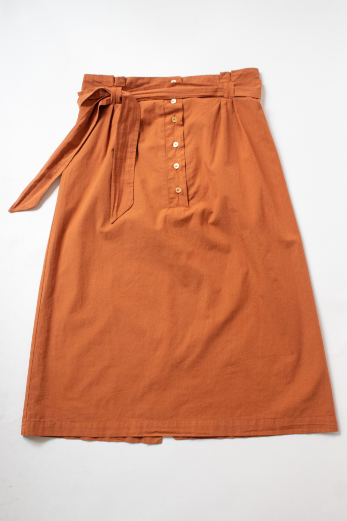 CUS - Thais Poplin Skirt, Rooibos