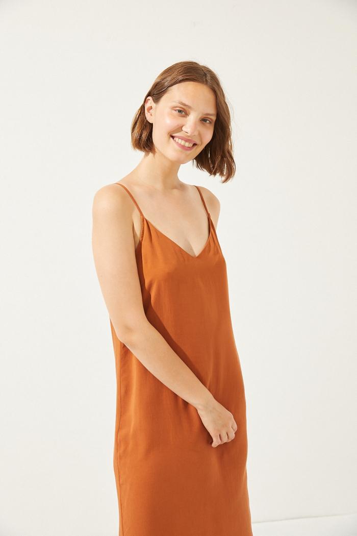 CUS - Junonia Tencel Dress, Rooibos