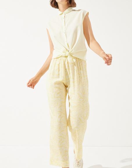 CUS - Natica Tencel Pant, Laurel Print