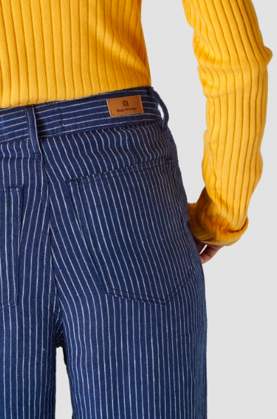 Kings of Indigo - Leila High Rise Pant, Stripe Linen