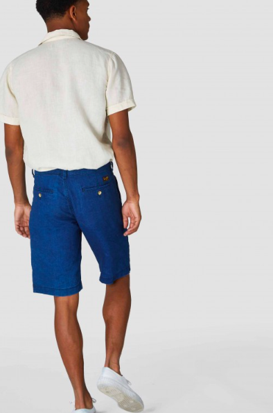 Kings of Indigo - Cronus Dark Navy Linen Shorts