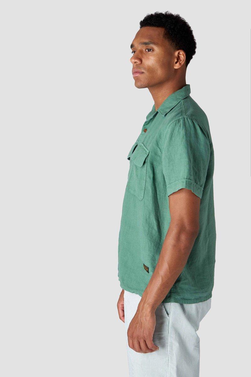 Kings of Indigo - Balder Short Sleeved Shirt, Pear Green