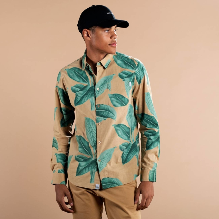 Dedicated - Khaki Leaves Shirt