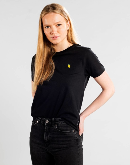 Dedicated - Lemon Embroidery T-Shirt, Black