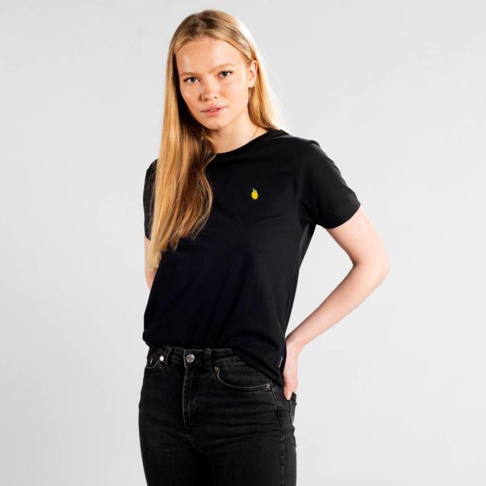 Dedicated - Lemon Embroidery T-Shirt, Black