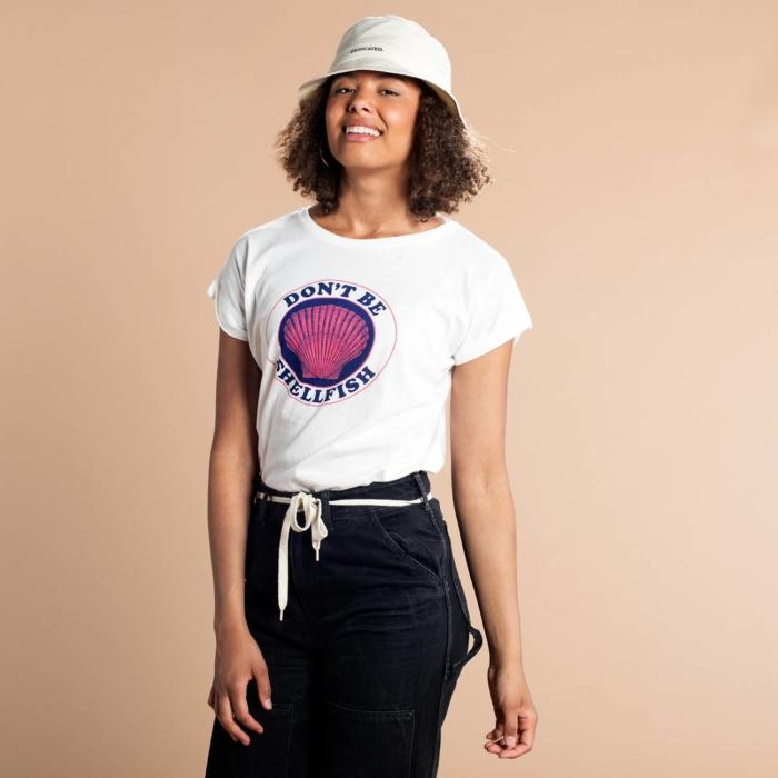 Dedicated - Shellfish T-Shirt, Off-White