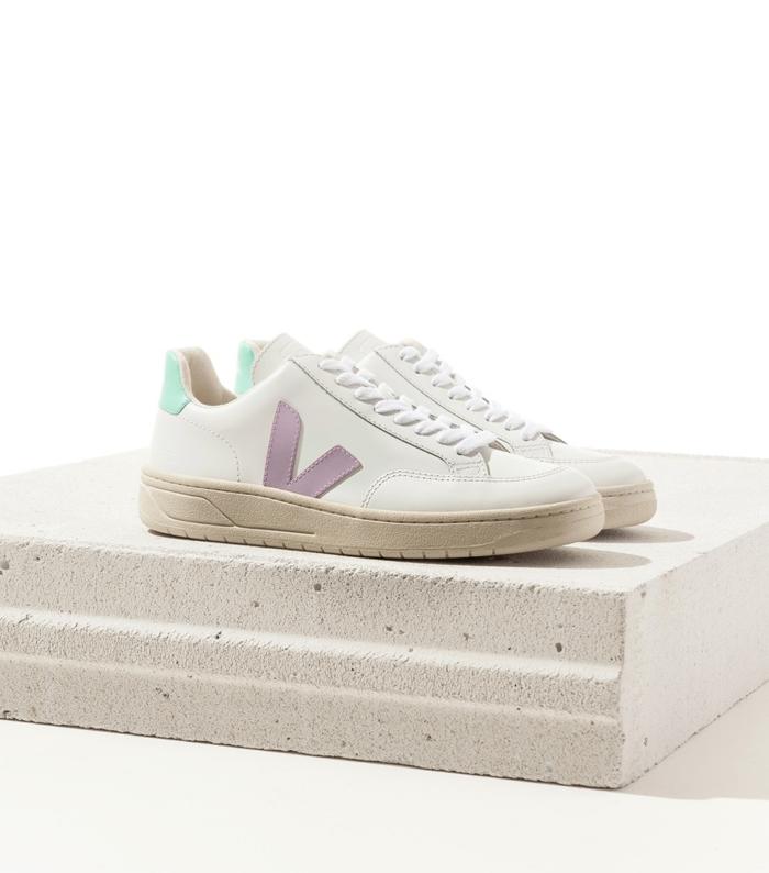 Veja - V12 Sneaker, Extra White Parme Turquoise