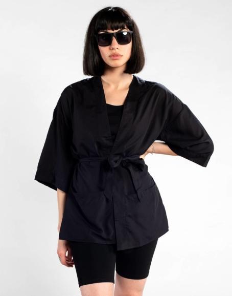Dedicated - Viken Tencel Kimono, Black