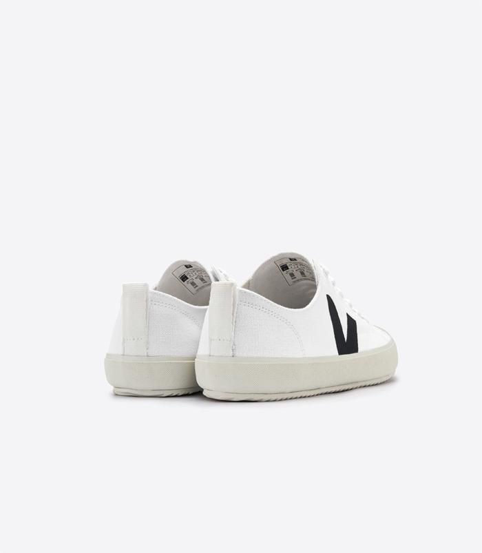 Veja - Nova Vegan Canvas Sneaker, White Black