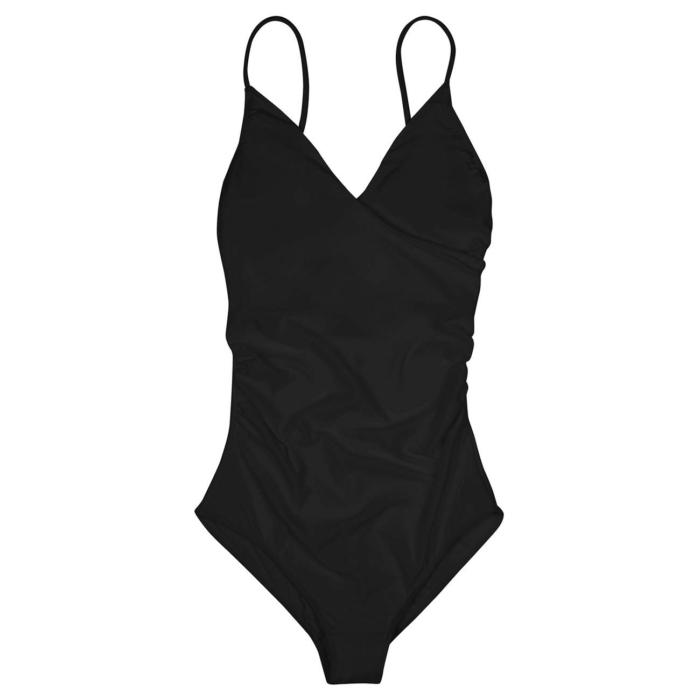 Dedicated - Wrap Swimsuit, Black