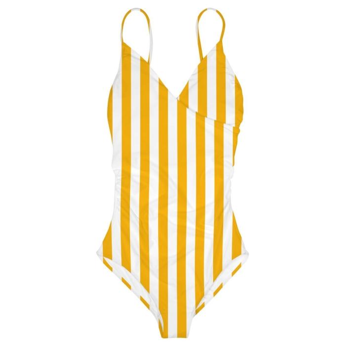 Dedicated - Wrap Swimsuit, Big Stripes