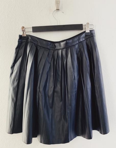 Ecosphere Vintage - Fake Leather Skirt