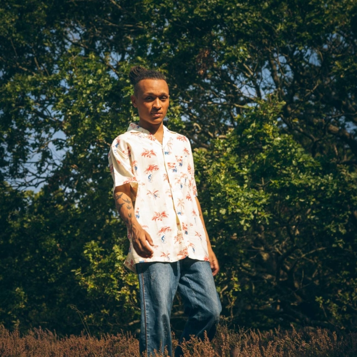 Dedicated - Mens Short Sleeved Tencel Shirt, Monkey Trees