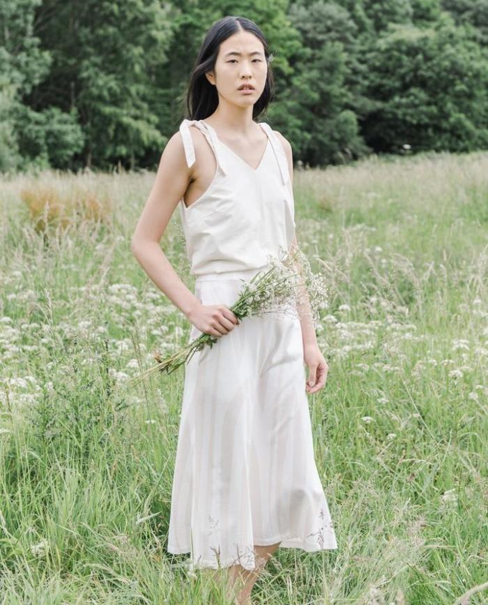 Beaumont Organic - Ashley-Paige Skirt, Off-White & Bone