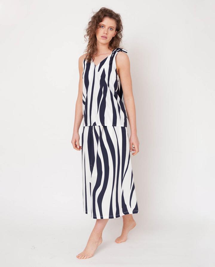 Beaumont Organic - Ashley-Paige Skirt, Off-White & Midnight