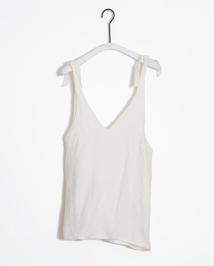 Beaumont Organic - Emma-May Linen Tie Strap Top