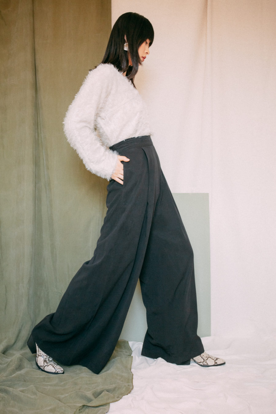 Cossac - Black Palazzo Trousers