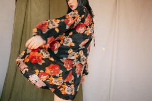 Cossac - Floral Print Trapeze Dress