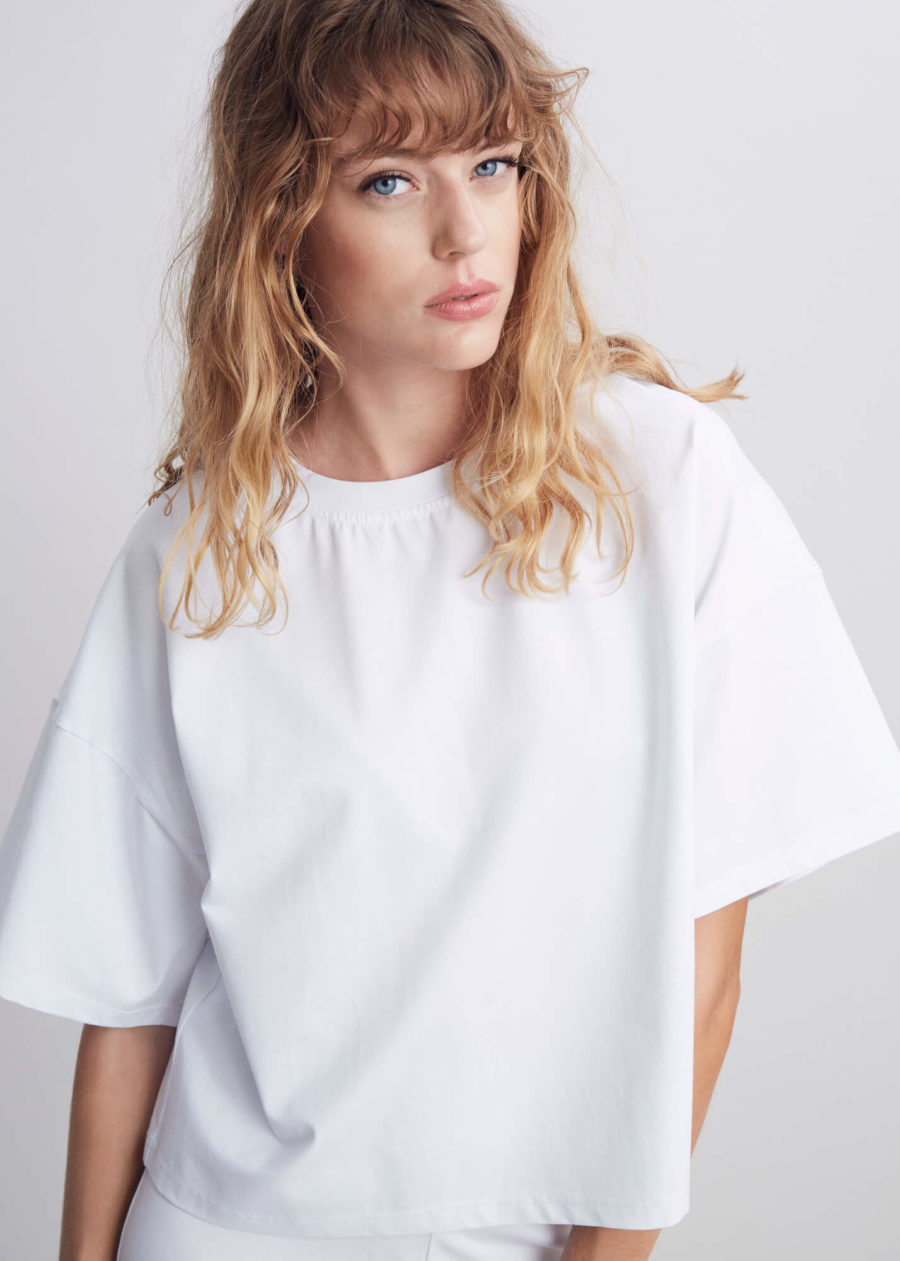 ORES - Wool Silk Tee, White